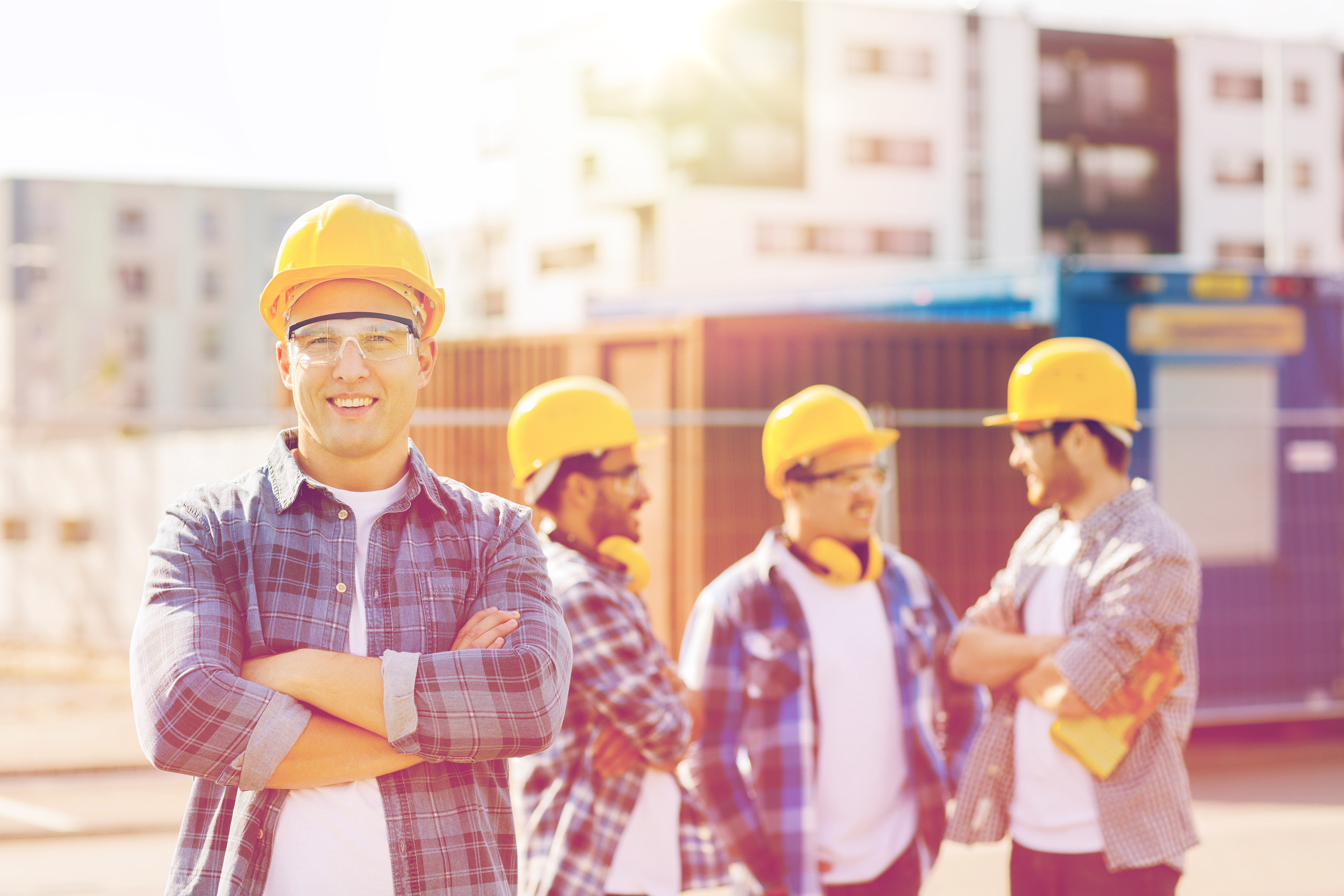 Construction Men Chatting
