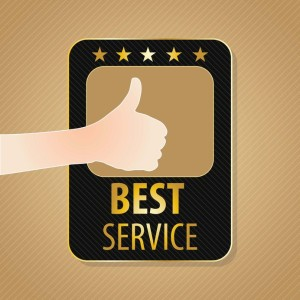 17623074 - best service label, golden and brown colors. vector illustration